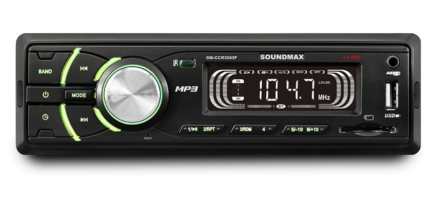 Автомагнитола Soundmax SM-CCR3053F Black с автоматической настройкой радиостанций