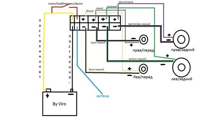 Подробная схема подсоединения