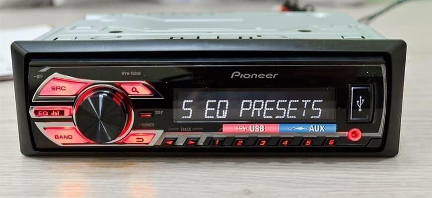Схема подключения магнитолы Pioneer MVH-150UB в авто