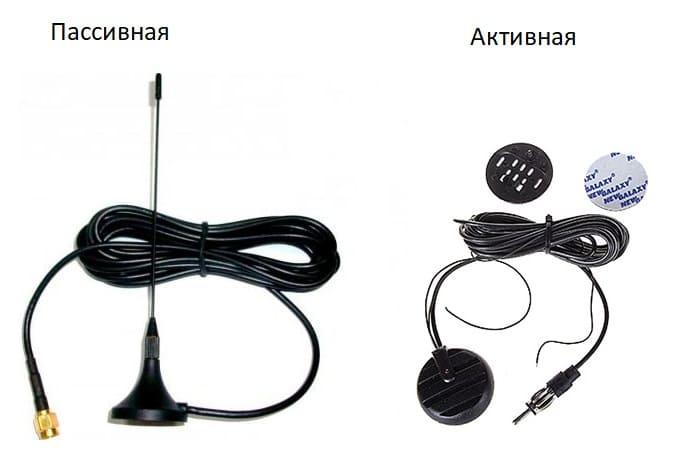Активные и пассивные автомобильные антенны