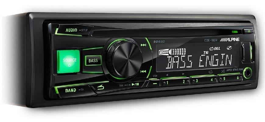Магнитола Alpine CDE-180R с высоким качеством звука