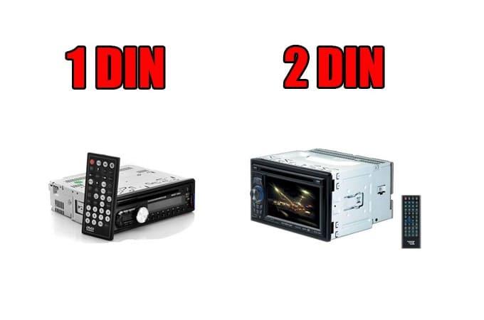 Стандарты магнитол 1DIN и 2DIN