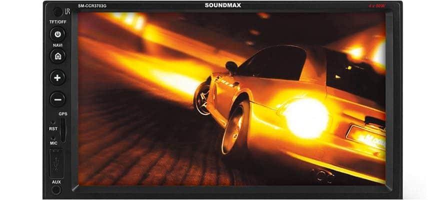 Автомагнитола Soundmax SM-CCR3703G с экраном 7 дюймов
