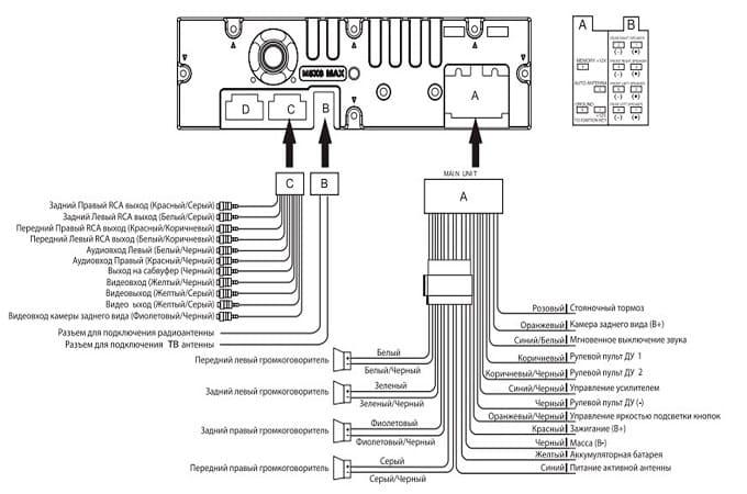 Схема подключения Mystery MMTD-9122S