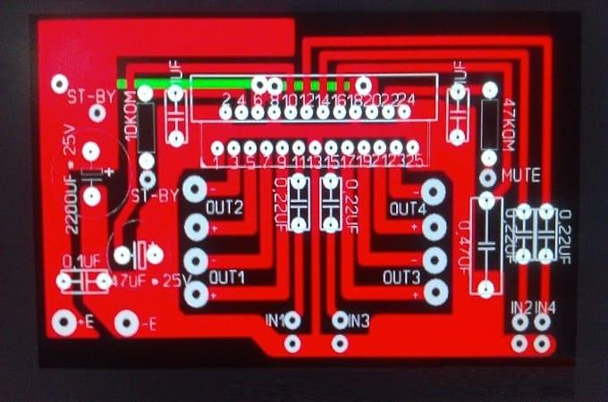 Автоусилитель на базе микросхемы TDA7384