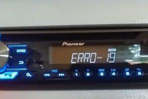 Что означает ошибка 19 на магнитоле Pioneer при подключении телефона и USB-флешки