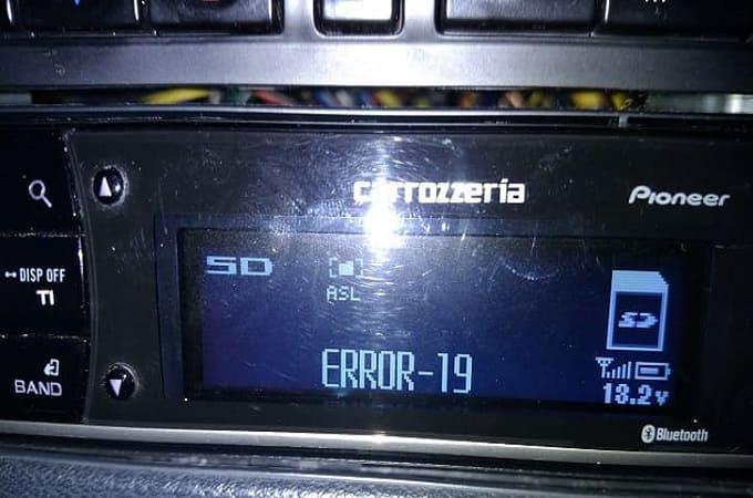 Error-19 на аудиосистеме