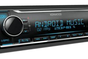 Автомагнитола Kenwood KMM-124 с фильтром низких частот