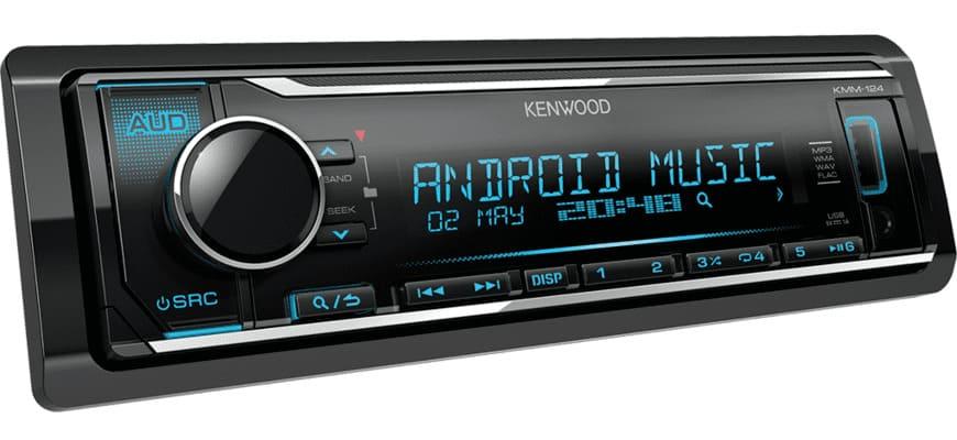 Магнитола Kenwood KMM-124 с синей подсветкой