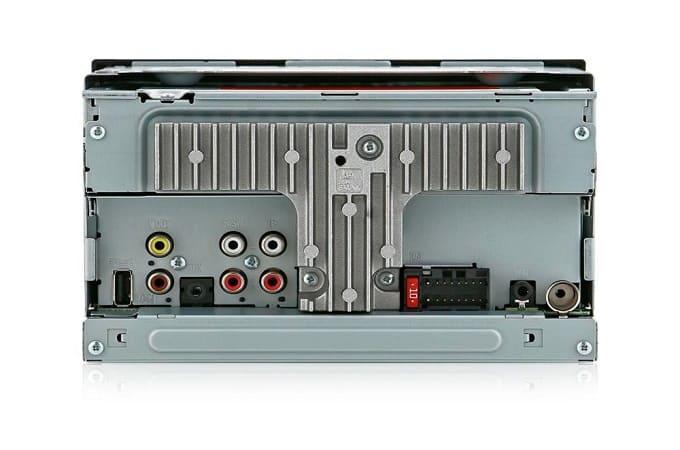 Pioneer MVH-AV190 с тыльной стороны