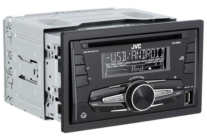 Дизайн магнитолы JVC KW-R520