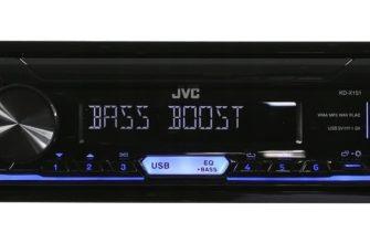 Модель магнитолы JVC KD-X151