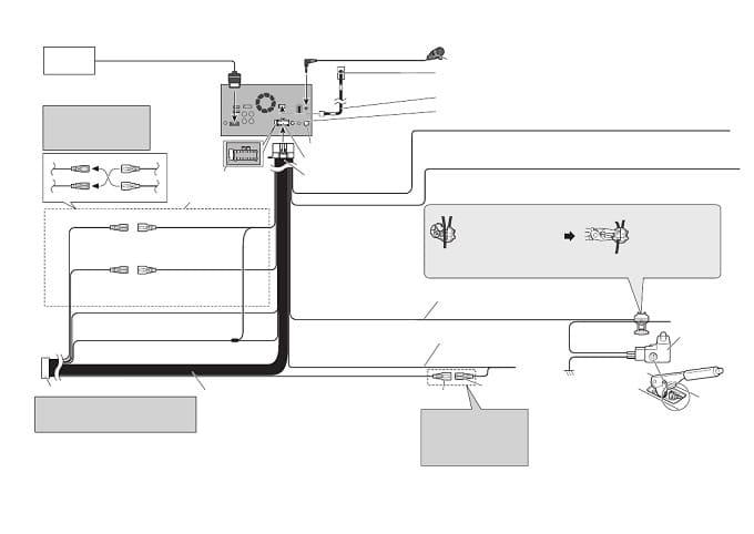 Схема подключения Pioneer AVH-A200BT