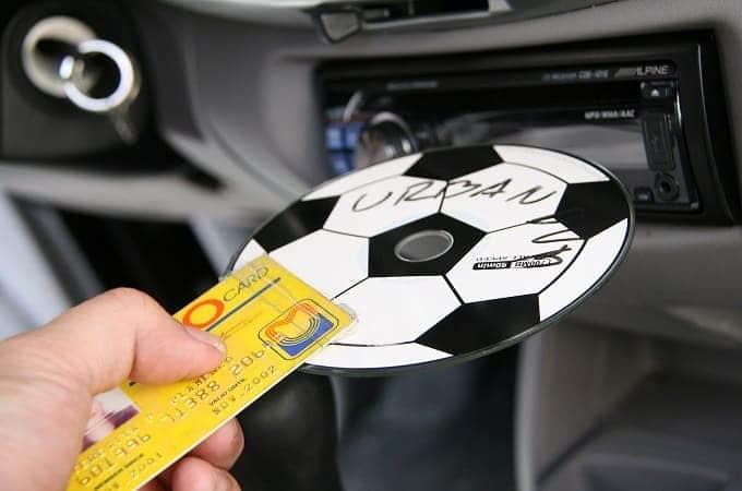 Вытащить диск с помощью карты